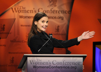 Actress Geena Davis speaks at the Women's Conference 2009 in Long Beach, California