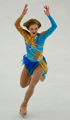RUSSIAN SOKOLOVA PERFORMS DURING WOMENS SHORT PROGRAM IN MALMO.