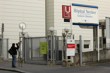 General view of the Necker Hospital in Paris where a patient with a suspect case of influenza A (N1H1) receives treatment