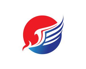 Horse wing pegasus logo