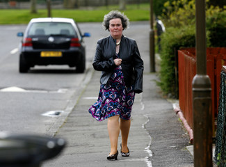 """Britain's Got Talent"" contestant Susan Boyle returns to her home in Blackburn in West Lothian, Scotland"