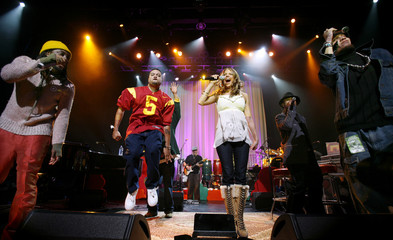 The Black Eyed Peas perform during Peapod Foundation's annual benefit concert in Hollywood