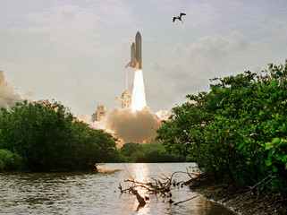 SHUTTLE ENDEAVOUR BEGINS MISSION TO INTERNATIONAL SPACE STATION.