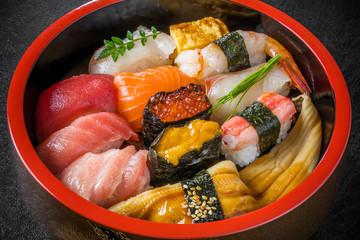 一般的な寿司 General sushi of the Japanese style
