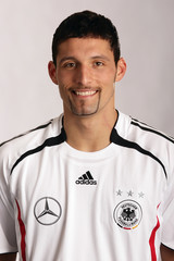 Kuranyi player of the German national soccer team poses for a picture in Duesseldorf