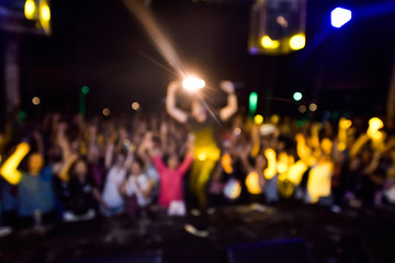 Abstract blurred concert lighting for background