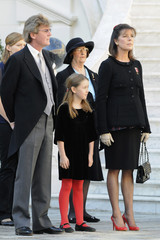 Prince Ernst August of Hanover, Princess Alexandra of Hanover and Princess Caroline of Hanover attend the Monaco's national day in Monte Carlo