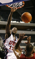 USA'S WALLACE DUNKS DURING WIN OVER PUERTO RICO AT WORLD BASKETBALLCHAMPIONSHIPS.