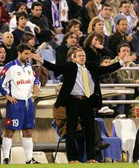 UEFACUP-Rueckspiel Real Zaragoza gegen Austria Wien.