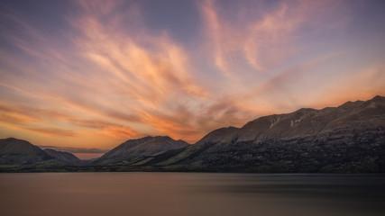 Colorful Sunrise over Lake Wakatipu