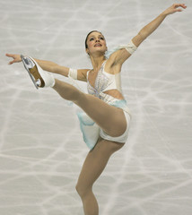 Switzerland's Sarah Meier performs at the women's free skating of the World Figure Skating Championships in Tokyo