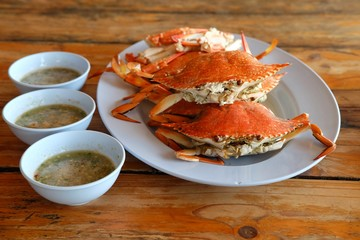 steamed blue crab recipe / Steamed Blue Crabs is very delicious