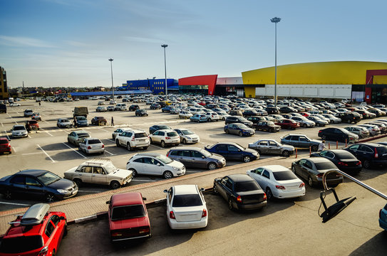 Car parking in the supermarket complex