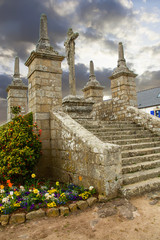 Calvaire. Saint Cado, Belz, Morbihan. Bretagne. France
