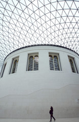 The Great Court of the British Museum is seen in London