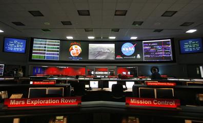 Jet Propulsion Laboratory mission control room for NASA's Phoenix Mars Lander is seen at JPL in Pasadena