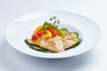 roasted fish with vegetables