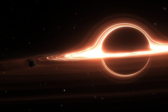 Black hole system. Elements of this image furnished by NASA