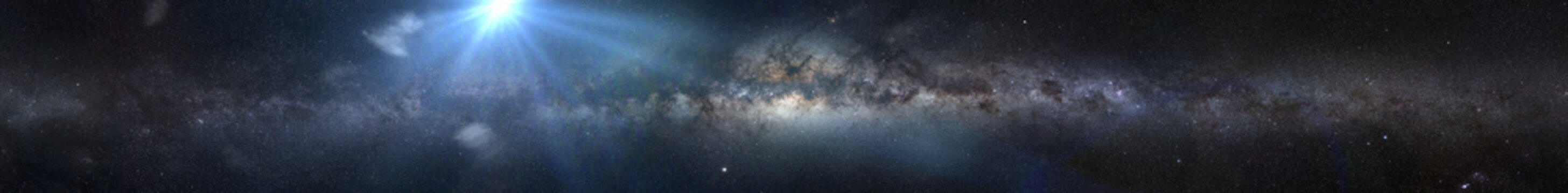 bright star in front the Milky Way galaxy