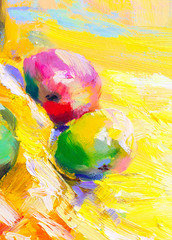 texture oil painting fruit painting colorful fruit still life