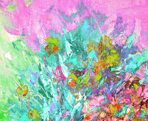 texture of oil painting, Art Painted Image color, paint, canvas, artist