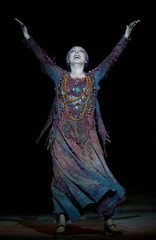 Spanish flamenco dancer Cristina Hoyos performs during the rehearsal of 'Yerma' in Seville March 30,..