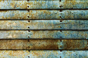 Beautiful Texture of Grunge Rusty Stripes Wall. Horizontal. Pattern. Rusty Background.