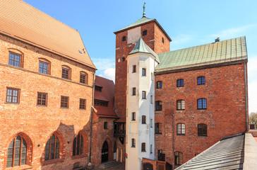 Zamek Książąt Pomorskich w Darłowie na pomorzu środkowym, okolice Słupska. Jedyny w Polsce nadmorski zamek gotycki