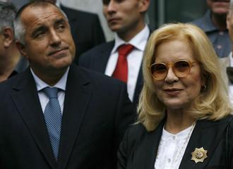 Bulgarian Prime Minister Borisov and Bulgarian-born French singer Vartan attend official ceremony at Sheinovo maternity hospital in Sofia