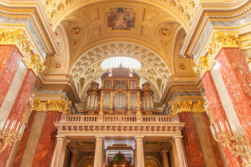 St. Stephen's Basilica in Budapest. Interior Details