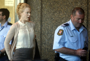 Australian actress Kidman arrives at Supreme Court in Sydney