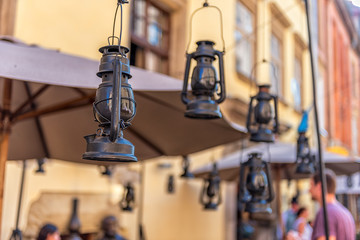 Old Lamps in City
