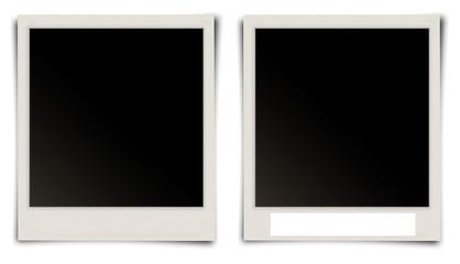 Polaroidfotos, ohne/mit Textfeld