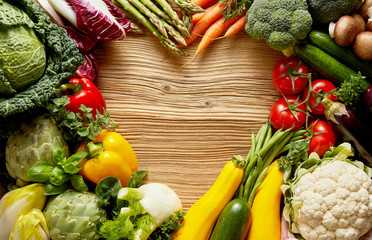 Wall Mural - Love for vegetables background concept