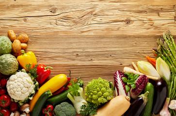 Wall Mural - Organic food background