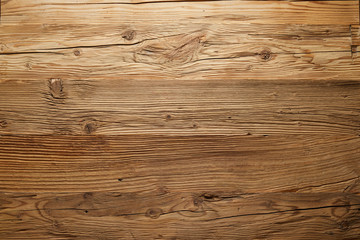 Textured wood background with natural boards Wall mural