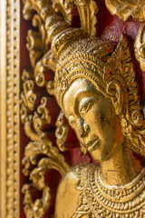Interior details of the Wat Xieng Thong temple, Luang Prabang, Laos