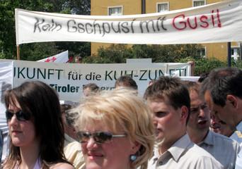 Demonstration des Bauernbundes gegen den SPOe-Vorschlag zur Kuerzung der EU-Agrarsubvention.