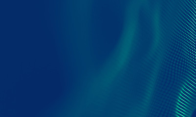 Abstract Blue Geometrical Background . Connection structure. Science background. Futuristic Technology HUD Element . onnecting dots and lines . Big data visualization and Business .