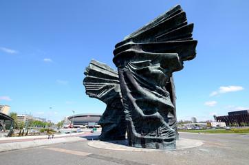 Obraz Silesian Insurgents Monument in Katowice, Poland - fototapety do salonu