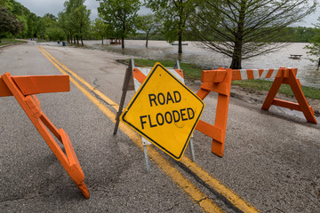 Road Flooded Closed