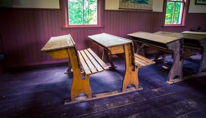 old fashion school desk