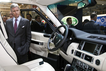 Belgian Crown Prince Philippe visits the 87th European Motor Show in Brussels