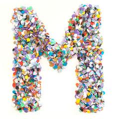 Confetti alphabet - letter M