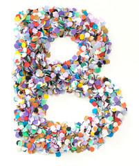 Confetti alphabet - letter B