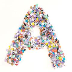 Confetti alphabet - letter A