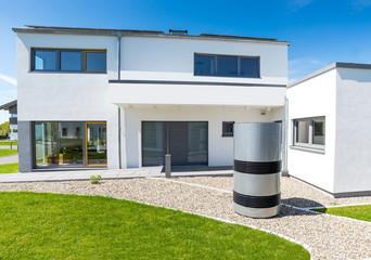 Einfamilienhaus, modern, Sommer