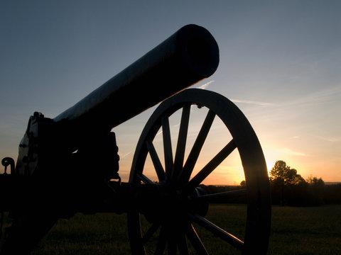 Civil war cannon, Virginia, USA