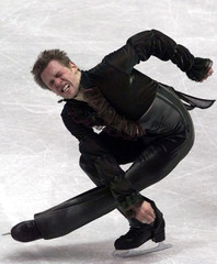 FRENCH SKATER STANICK JEANNETTE PERFORMS HIS FREE PROGRAM AT THE EUROPEAN FIGURE SKATING CHAMPIONSHIPS.