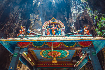Hinduism statue of temple at Batu Caves in Kuala Lumpur, Malaysia